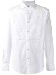 Ermanno Scervino Textured Bib Dinner Shirt White