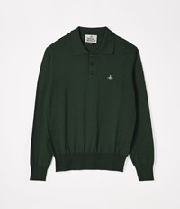 Vivienne Westwood Long Sleeve Polo Knit Green