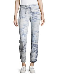 Young Fabulous And Broke Abstract Designed Pants Marine Blue Grey