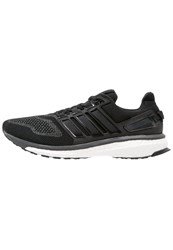 Adidas Performance Energy Boost 3 Cushioned Running Shoes Core Black Dark Grey Solid Grey