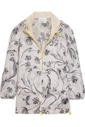 3.1 Phillip Lim Printed Silk Satin Hooded Jacket Lilac