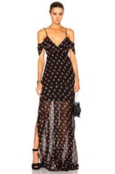 Needle And Thread Prairie Ditsy Maxi Dress In Black Floral Black Floral
