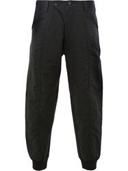 Ziggy Chen Tapered Trousers Black