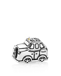 Pandora Design Pandora Charm Sterling Silver And Enamel Taxi Moments Collection Silver Yellow