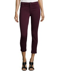 J Brand Anja Skinny Cuffed Ankle Jeans Red