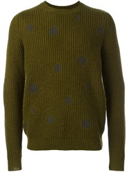 Paul Smith Ps By Ribbed Jumper Green