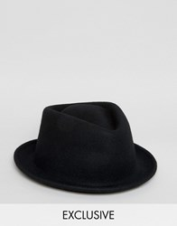 Reclaimed Vintage Pork Pie Hat Black Black