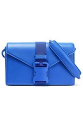 Christopher Kane Devine Pebbled Leather Shoulder Bag Bright Blue