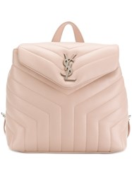Saint Laurent Lou Lou Backpack Nude And Neutrals
