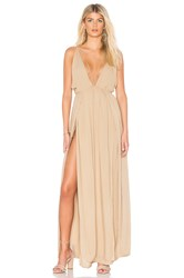 Indah Revival Maxi Dress Neutral