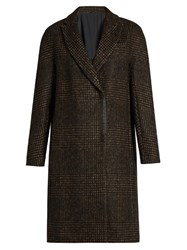 Brunello Cucinelli Prince Of Wales Checked Flannel Coat Brown