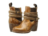 Bed Stu Lorn Tan Rustic White Leather Women's Pull On Boots Brown
