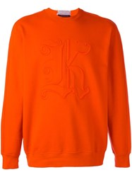 Christopher Kane Gothic K Sweatshirt Yellow Orange