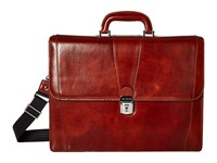 Bosca Double Gusset Brief Amber Briefcase Bags Bronze