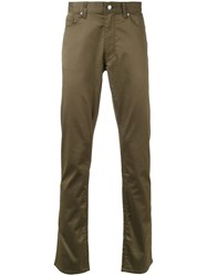 Kent And Curwen Straight Leg Casual Trousers Green