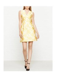 Reiss Tate Jacquard Fit And Flare Yellow