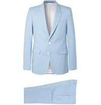 Givenchy Light Blue Slim Fit Wool Twill Suit Light Blue