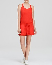 Candc California C And C California Romper Back Placket Poppy Red