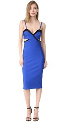 Thierry Mugler Cutout Cocktail Dress Sapphire Black