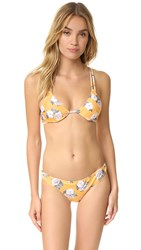 Minkpink Spread Like Wildflowers Bikini Top Multi Yellow