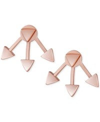 French Connection Rose Gold Tone Triangle Jacket Stud Earrings
