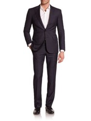 Ralph Lauren Black Label Anthony Pinstriped Suit Black