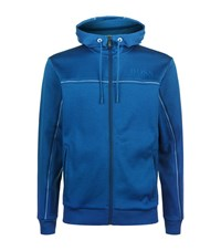 Hugo Boss Green Saggy Full Zip Hoody Male Blue