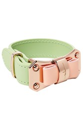 Marina Hoermanseder Leather Bow Bracelet Green