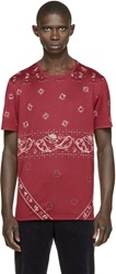 Burberry Red Paisley Print T Shirt