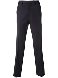 Salvatore Ferragamo Single Pleat Trousers Blue