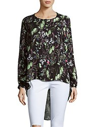 State Of Being Garden High Low Shirt Multicolor