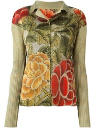 Issey Miyake Vintage Floral Pleated Shirt Multicolour