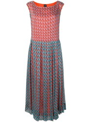 Aspesi Geometric Printed Dress Blue