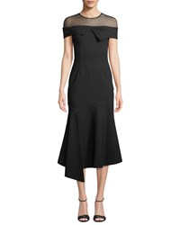 Elliatt Martini Fit And Flare Illusion Gown Black