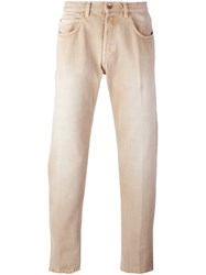 Eleventy Straight Leg Jeans Nude And Neutrals
