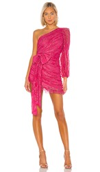 For Love And Lemons Dynasty One Shoulder Dress In Pink. Cosmo Lace