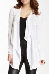 Sweet Romeo Draped Front Knit Cardigan White