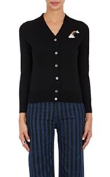 Marc Jacobs Women's Rainbow Patch Merino Wool Cardigan Black