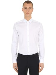 Eton Slim Fit Cotton Twill Shirt White