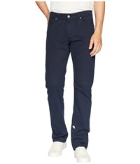 Ag Adriano Goldschmied The Graduate Tailored Straight Sueded Stretch Sateen New Navy Casual Pants