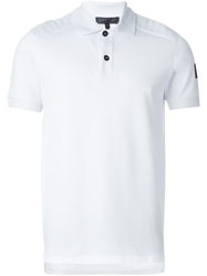 Belstaff Logo Embroidered Polo Shirt White