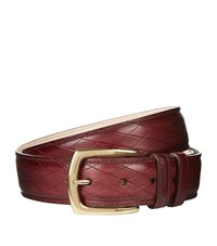 Harrods Of London Overcheck Belt Unisex Red