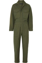 Citizens Of Humanity Marta Cotton Canvas Jumpsuit Army Green
