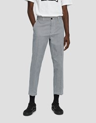 Obey Straggler Houndstooth Pant In White Multi