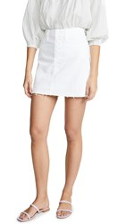 Paige Aideen Skirt Crisp White Distressed