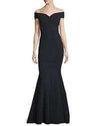 La Petite Robe Di Chiara Boni Genny Off The Shoulder Sweetheart Mermaid Gown Size 4 Nero