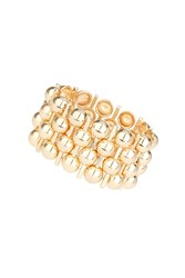 Topshop Chunky Metal Ball Stretchy Bracelet Gold