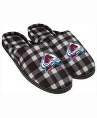 Forever Collectibles Colorado Avalanche Flannel Slide Slippers Maroon