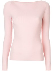 Dion Lee Shadow Ribbed Knit Top Pink