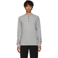 Rag And Bone Grey Classic Henley